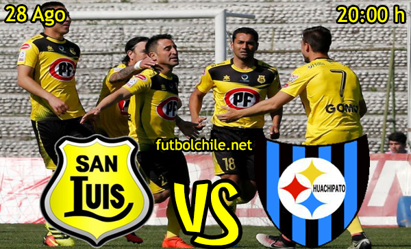 Ver stream hd youtube facebook movil android ios iphone table ipad windows mac linux resultado en vivo, online: San Luis vs Huachipato