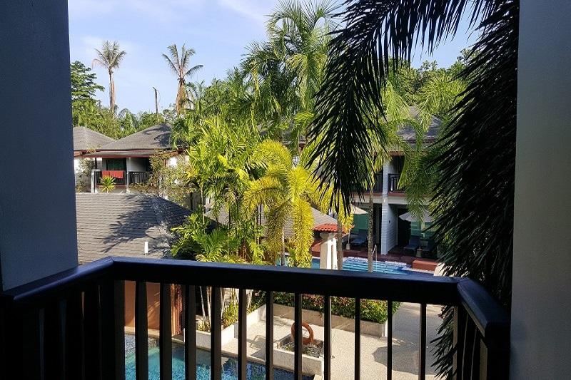 La Flora Resort & Spa Balkon Zimmerausblick