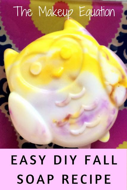 Easy DIY soap. #soap #soapmaking #diysoap #fallsoap #coloredsoap #crafty