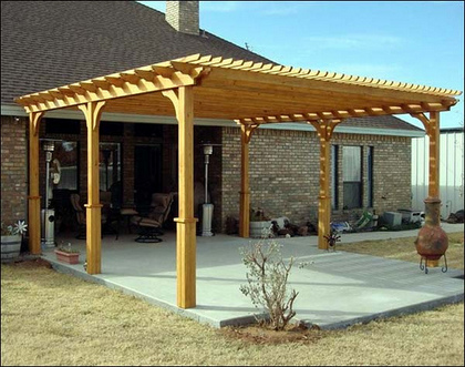 Outdoor Wooden Pergola In UAE DESERT DREAMS DECOR Garden 5