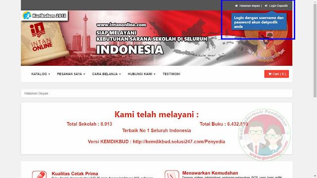Klik Login Dapodik Untuk melalukan login halaman