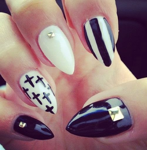 Nails Designs Tumblr Black And White