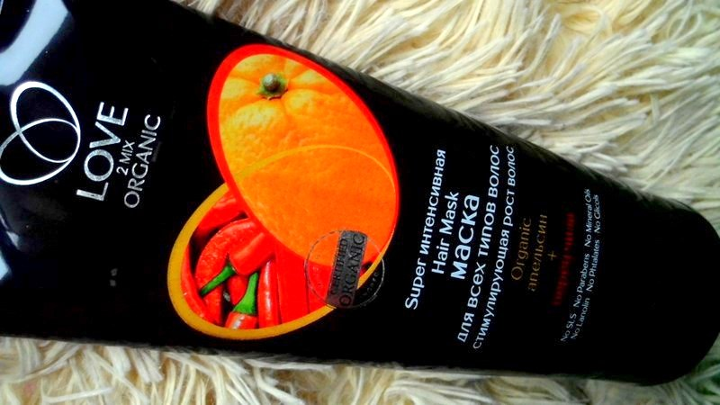 LOVE 2MIX ORGANIC organiczna maska na porost włosów 'pomarańcza i papryczka chili'