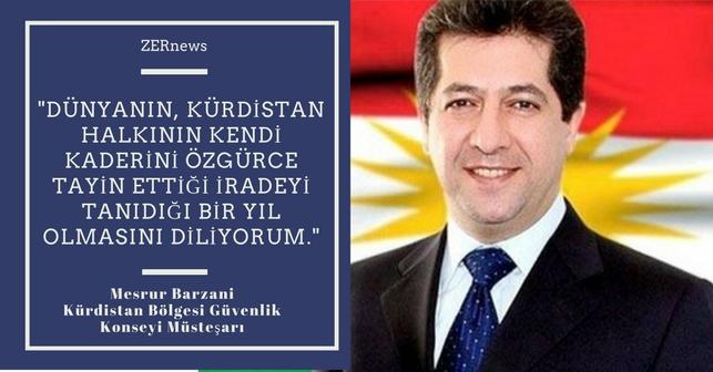 Mesrur Barzani Yeni Yıl mesajı 2018 2017