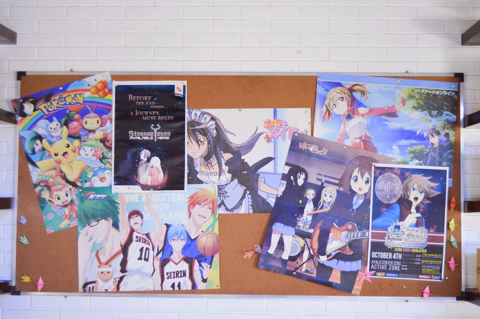 Tomo Cafe Anime Poster Bulletin Board