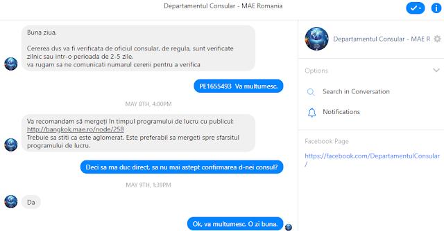 Departamentul Consular Facebook