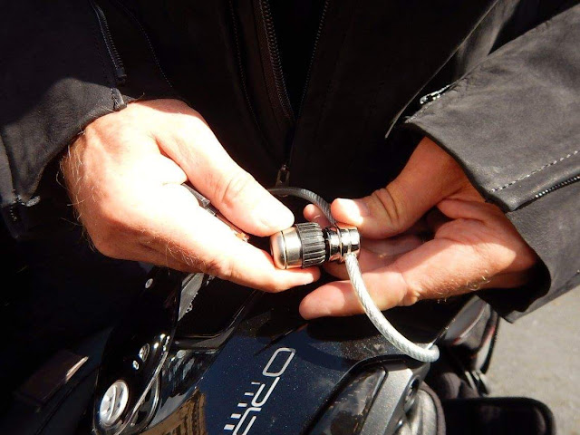 Secure your motorcycle gear quick and easy