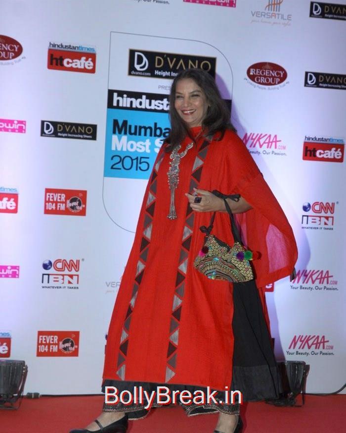Shabana Azmi, Mumbai's Most Stylish Awards 2015 Full Photo Gallery