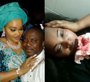 Mercy Aigbe's hubby denied her accusation over her bruised face..She's just acting for everyone(Screen Shot)