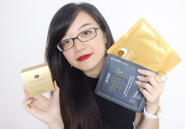 Review : PETITFEE GOLD & SNAIL HYDROGEL EYE PATCH + SHEET MASKS by Jessica Alicia