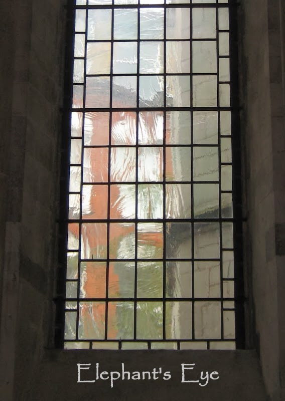 Reamed glass at a church in London