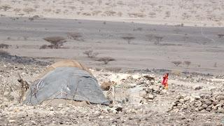 In Djibouti locals work in Salt mines