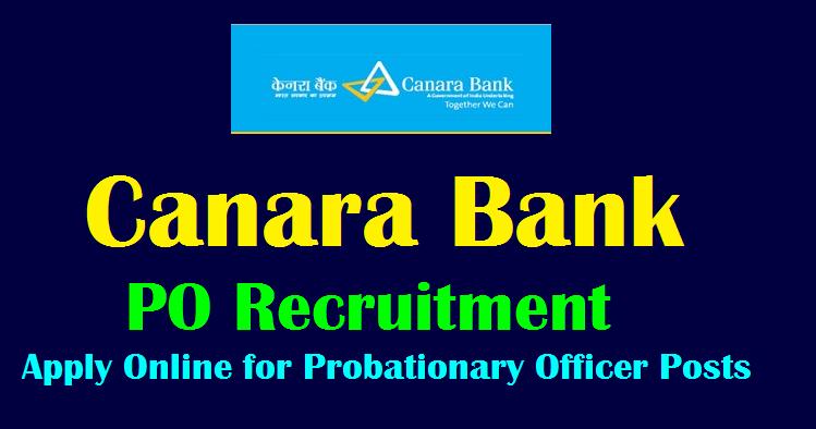 canara bank po apply online 2018