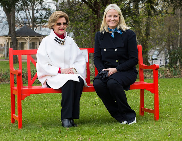 Queen Sonja and Crown Princess Mette-Marit - TV-Aksjonen charity launch for the Red Cross Oslo, Norway Style, dresses, wedding dress, diamond earrings
