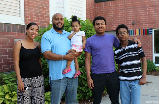 a black family