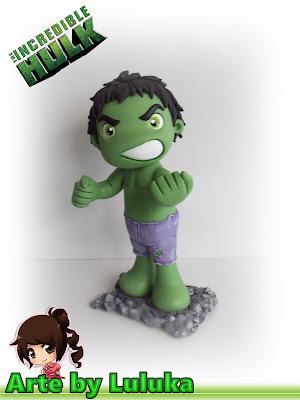 Hulk fofinho em biscuit