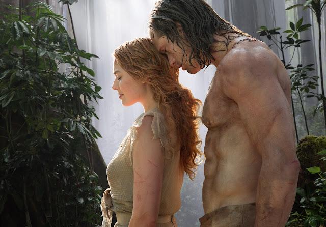 Alexander Skarsgård în rolul Tarzan şi pe Margot Robbie în rolul iubitei acestuia Jane