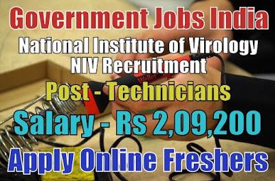 National Institute of Virology NIV Recruitment 2018