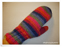 Knitted Double Mittens
