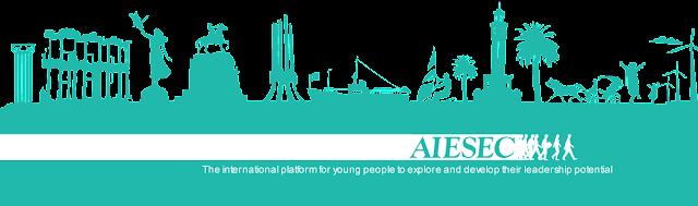 Desenho de propaganda da AIESEC