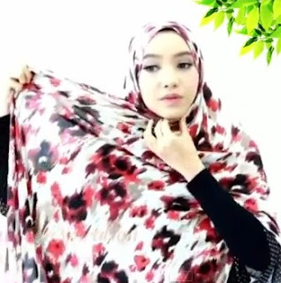 tutorial hijab pashmina simple lebaran 1