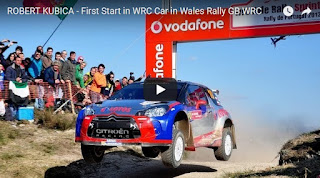 ROBERT KUBICA - First Start in WRC Car in Wales Rally GB WRC