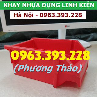 Chuyên cung cấp Khay nhựa xếp chồng, hộp nhựa đựng ốc vít trong gara ô tô