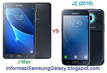 Perbandingan Samsung Galaxy J Max vs J2 (2016)