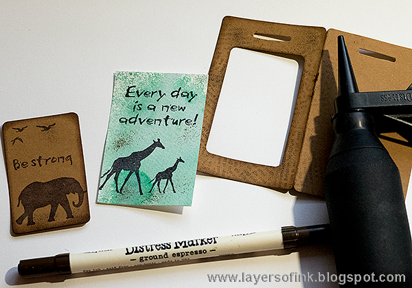 Layers of ink - Wildlife Cards Tutorial by Anna-Karin with Sizzix dies by Eileen Hull