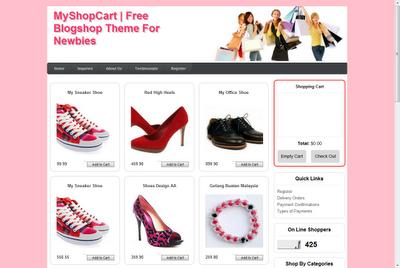 Shopping Cart percuma tema blogspot untuk kedai on-line mudah blogger Malaysia