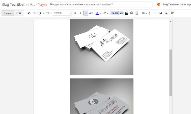 Blogger görsel ekleme