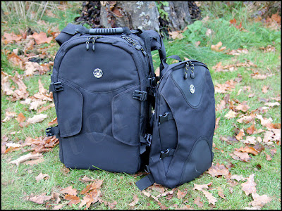 Kameraryggsäck med packning