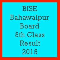 5th Class Result 2017 BISE Bahawalpur Board