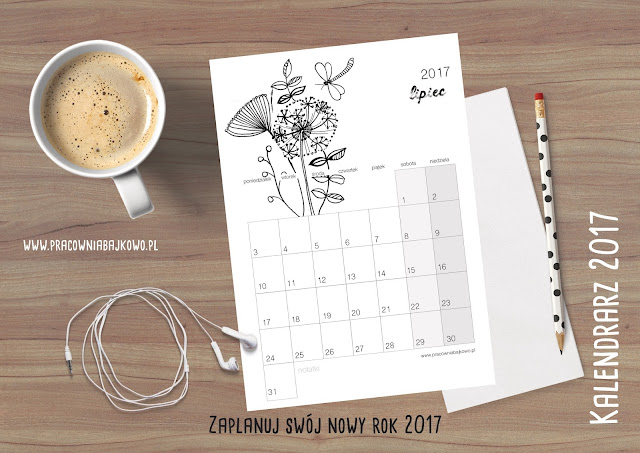 Kalendarz 2017 do druku