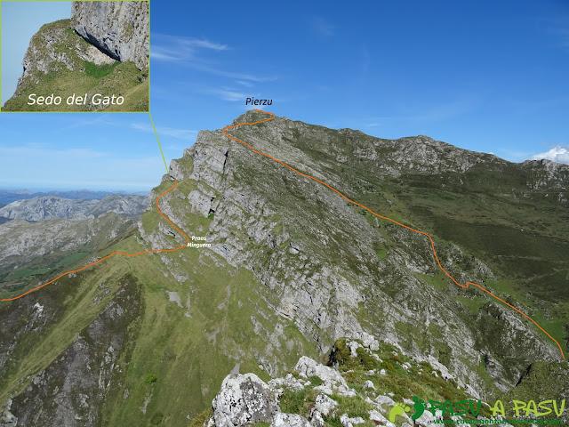 Ruta al Pierzu desde Priesca: Sedo del Gato y subida por ladera del Pierzu