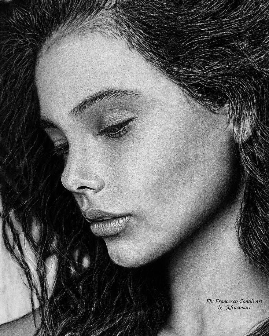 13-Laneya-Francesco-Contili-Realistic-Graphite-and-Charcoal-Portrait-Drawings-www-designstack-co