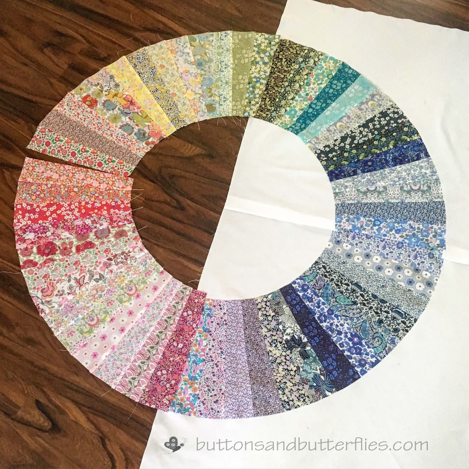 Buttons And Butterflies Liberty Color Wheel