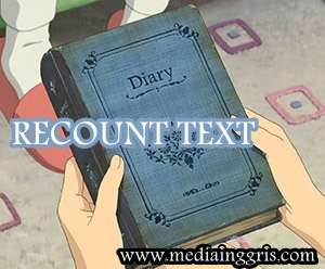 enis jenis Teks Bahasa Inggris-kinds of text-pengertian recount text