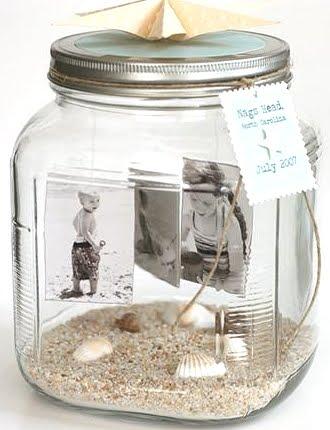 photos in jar