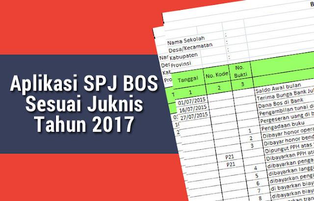 Aplikasi SPJ BOS Sesuai Juknis Tahun 2017