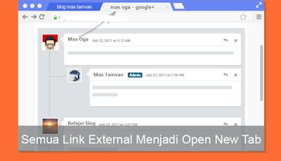Open link externo nova aba Script