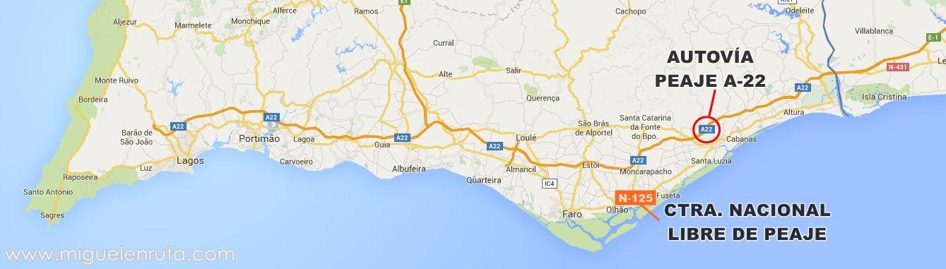 mapa do algarve para imprimir Cómo moverte por las carreteras de la Costa del Algarve ~ En Ruta  mapa do algarve para imprimir