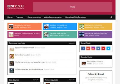 Best result job portal blogger theme