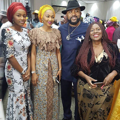 Zahra and Hanan Buhari with Banky W and Joke Silva at the Get Involved initiative