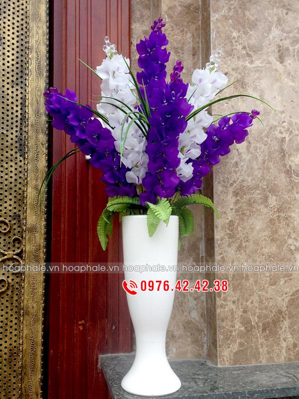 Hoa pha lê Phi Yến | Hoa phi yến tím trắng