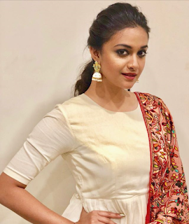 Keerthy Suresh in White Dress with Cute Smile 1