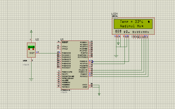 Digital Thermometer using Microcontroller