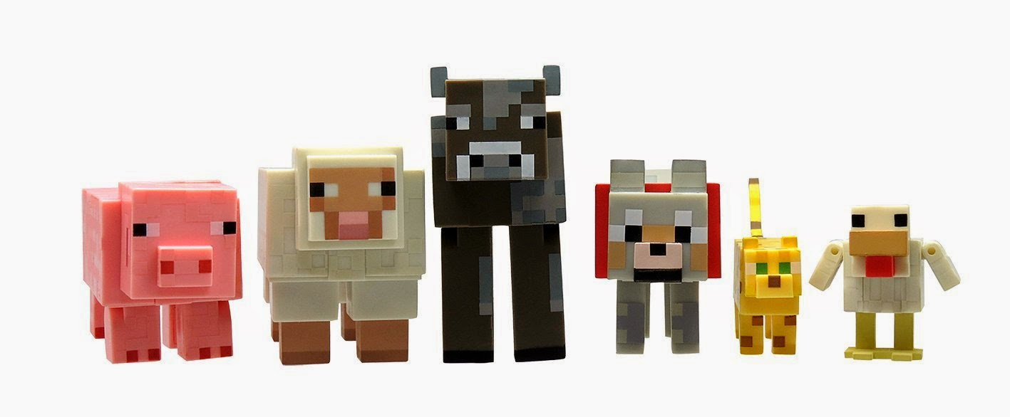 Cute Minecraft Animal Figures make a great birthday gift for girls or younger kids.