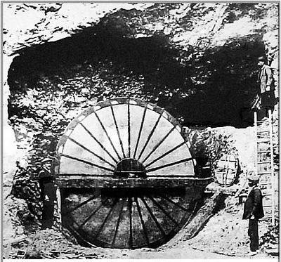 Noria romana de la mina Río Tinto