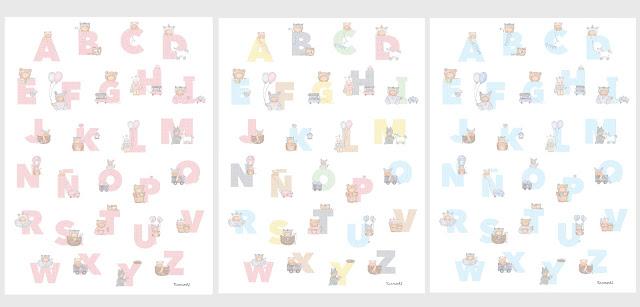 láminas infantiles bebés y niños, abecedarios para enmarcar -ABECEDARIOS